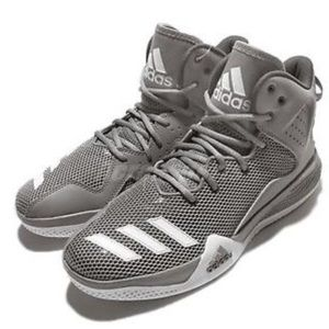 Adidas DT BBall Grey White Mens Shoe